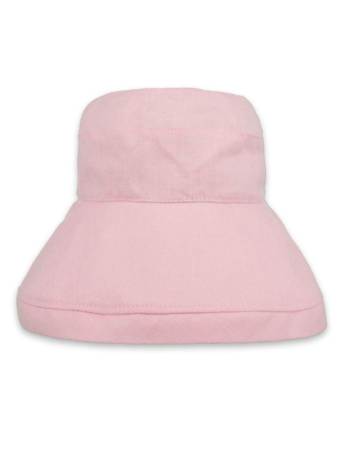 Solid Color Foldable Beach Travel Bucket Hat - PINK