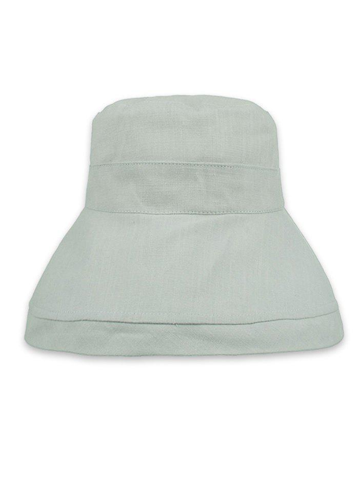 Solid Color Foldable Beach Travel Bucket Hat - LIGHT GRAY