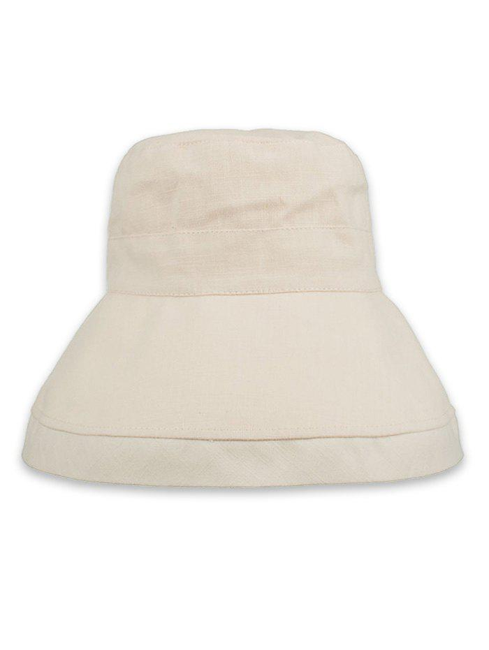 Solid Color Foldable Beach Travel Bucket Hat - BEIGE