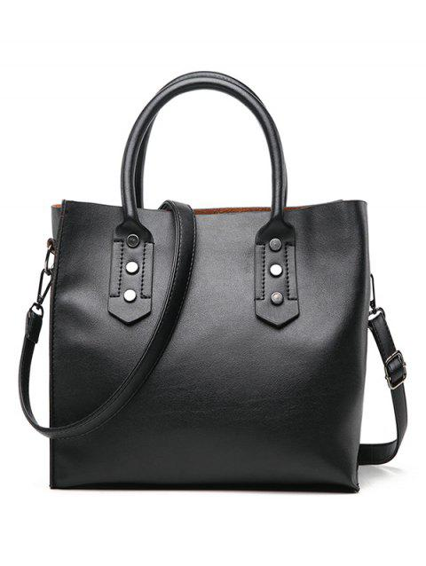 Casual Daily Minimalist Handbag - BLACK