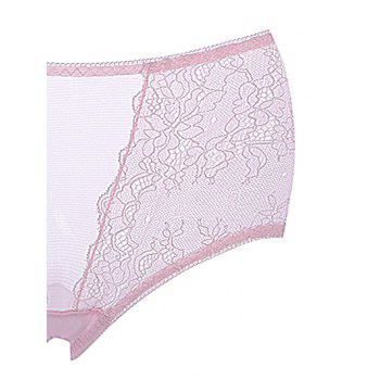 Breathable Lace Mid Rise Underwear - LIGHT PINK ONE SIZE(FIT SIZE XS TO M)