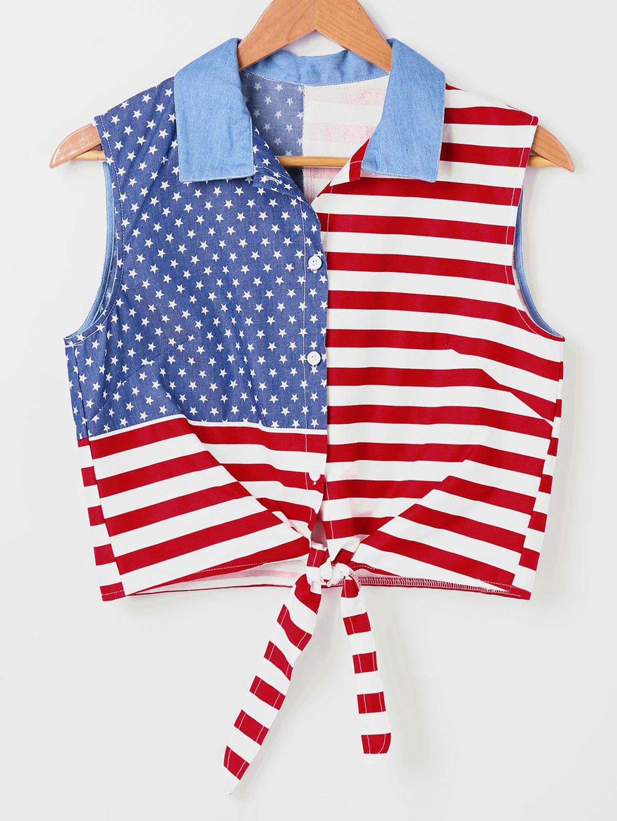 American Flag Hit Color Shirt - COLORMIX XL