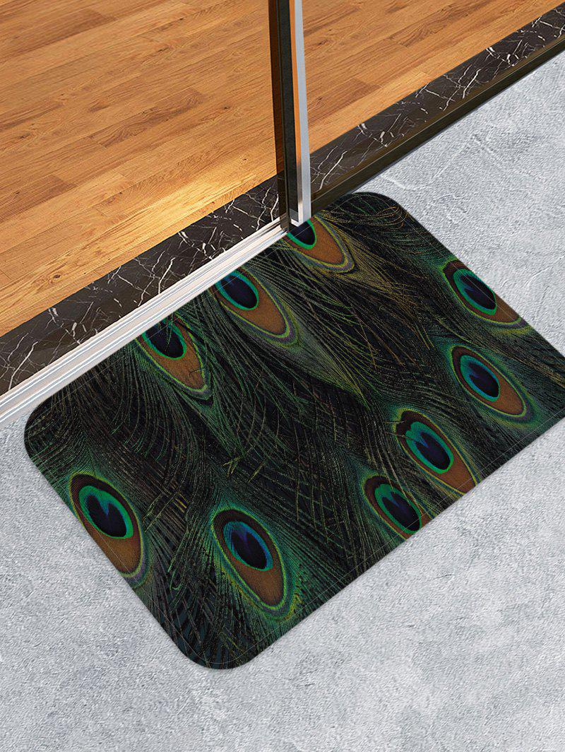 Peacock Feather Pattern Flannel Floor Area Rug green peacock feather pattern hoop earrings