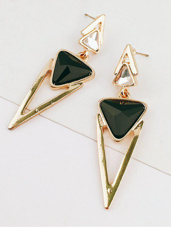 Rhinestone Alloy Triangle Geometric Earrings faux opal geometric earrings