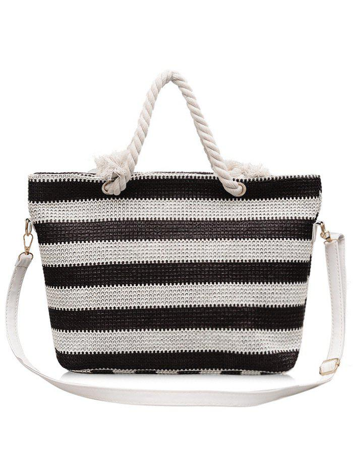 Dresslily Naval Style Striped Straw Shopping Bag