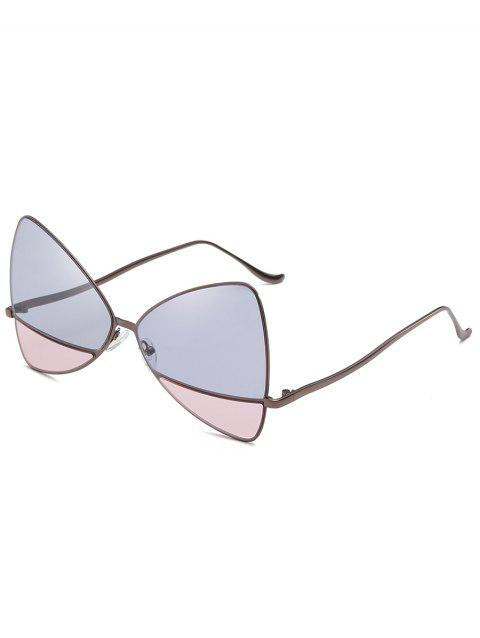Anti UV Metal Frame Two Tone Sunglasses - BLUE GRAY