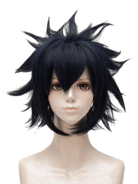 Short Side Bang Tail Outside Straight Synthetic Anime Aotu World Ray Cosplay Wig - DARK SLATE BLUE