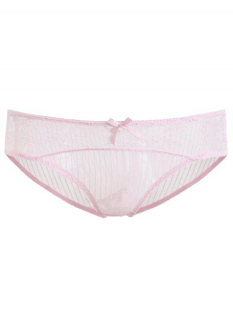Breathable Transparent Lace Soft Underwear - LIGHT PINK ONE SIZE(FIT SIZE XS TO M)