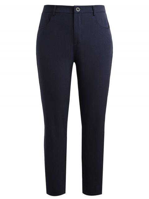 Plus Size Work Formal Pants - DEEP BLUE 1X