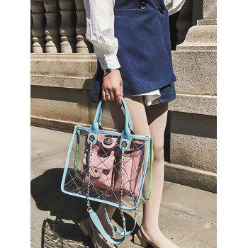 Transparent Jelly Candy Chain Crossbody Bag - SKY BLUE