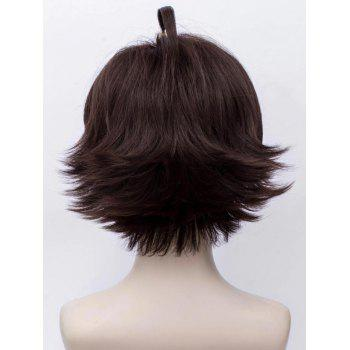 Short Side Bang Braid Straight Anime Aotu World Anmicius Cosplay Synthetic Wig - DEEP BROWN