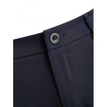 Plus Size Work Formal Pants - DEEP BLUE L
