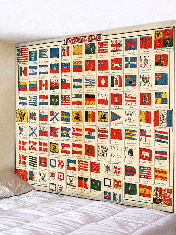 National Flags Pattern Wall Hanging Tapestry waugh e put out more flags