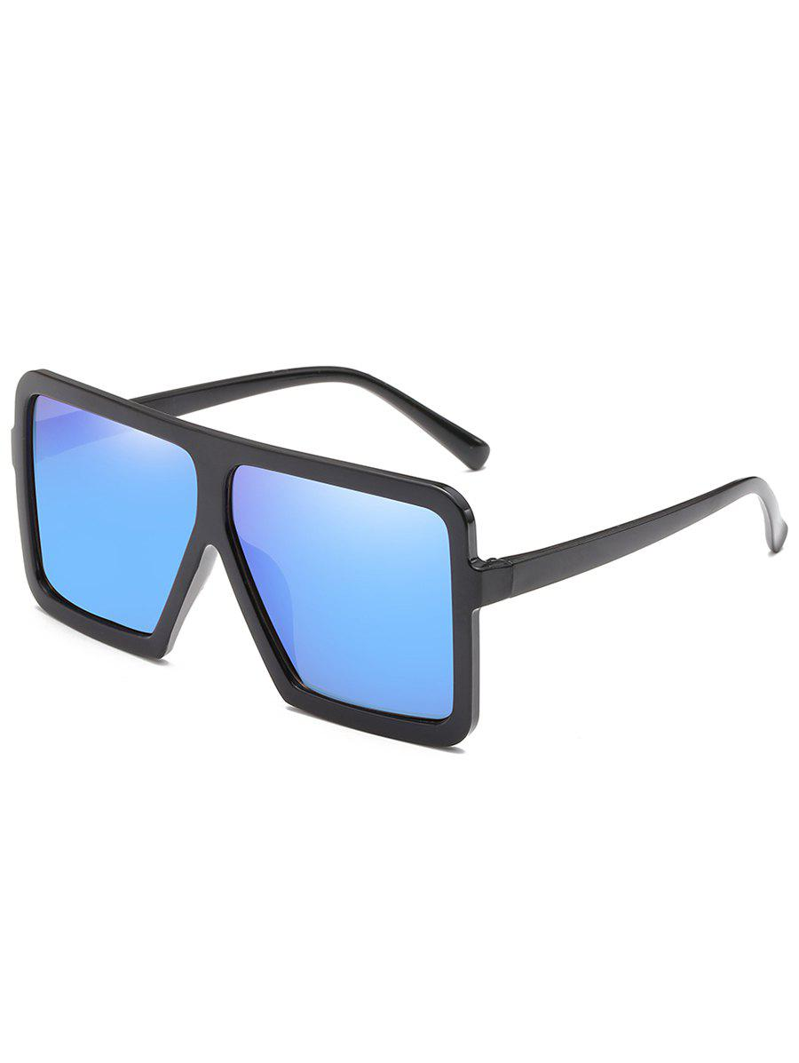 Anti UV Full Frame Oversized Square Sunglasses - BLUE ORCHID