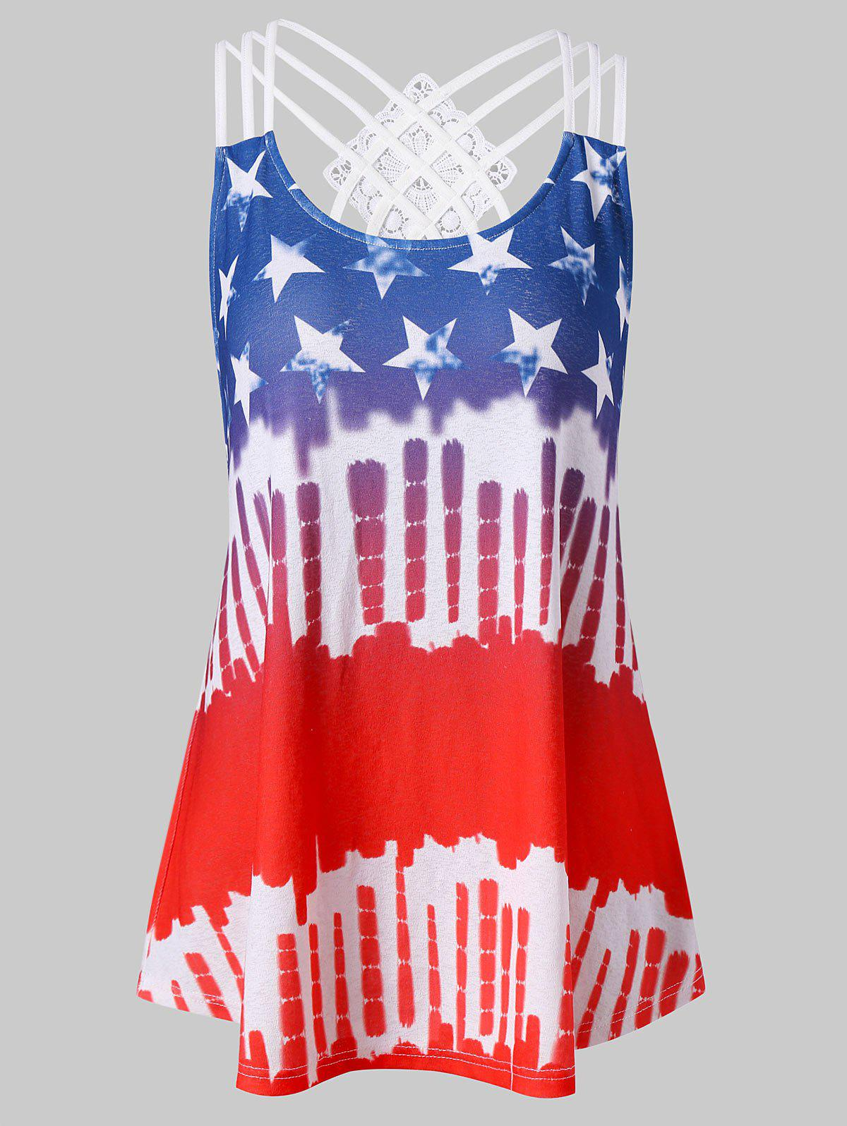 American Flag Strappy Tank Top strappy back american flag tank top