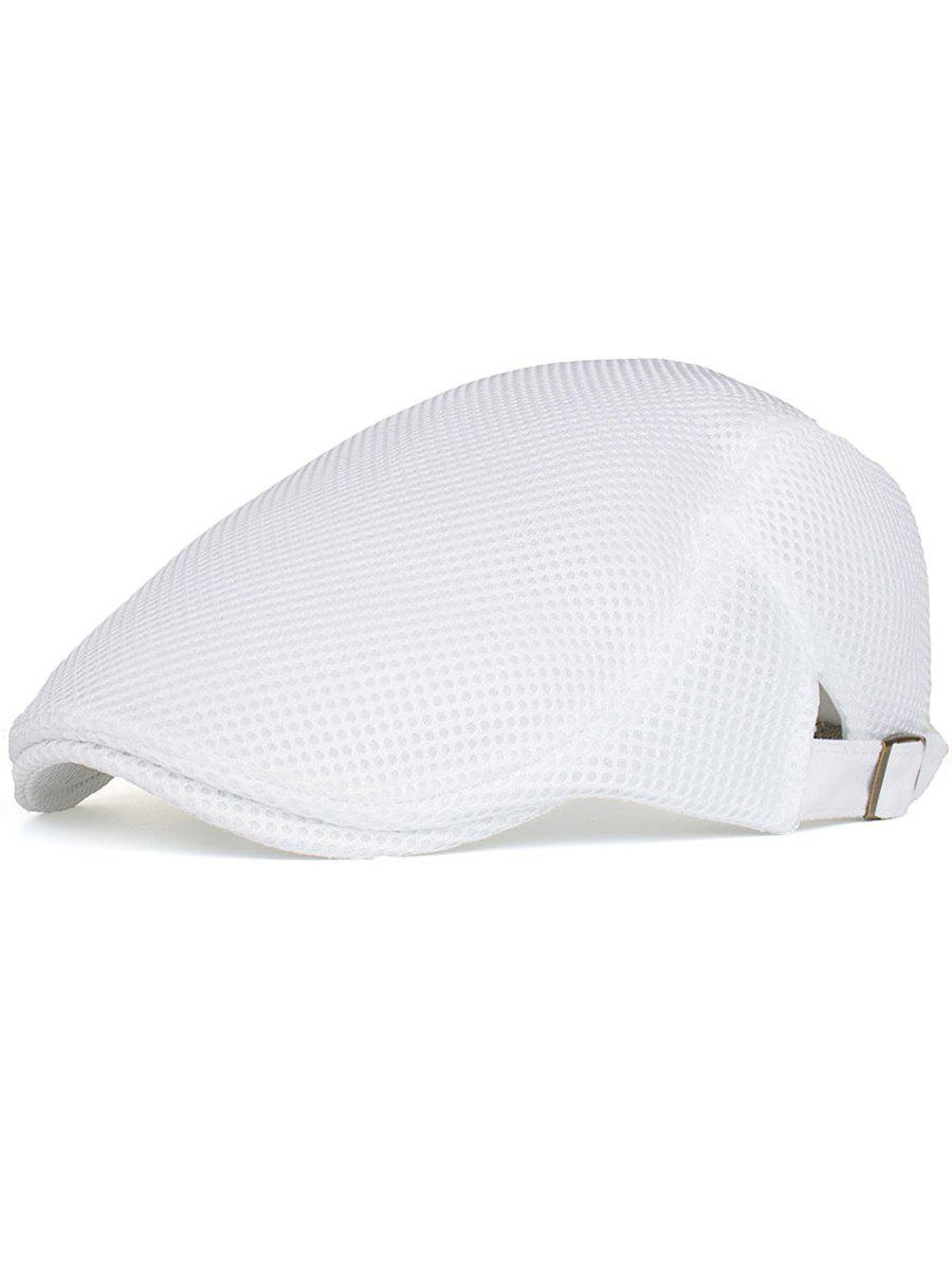 Lightweight Breathable Adjustable Jeff Hat - WHITE