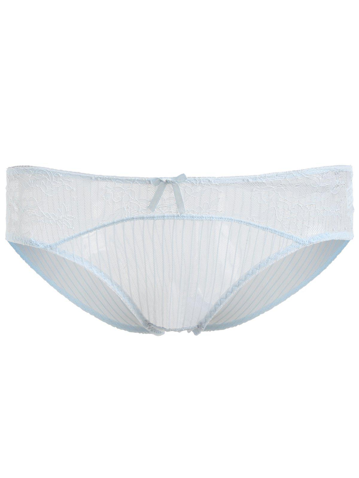 Breathable Transparent Lace Soft Underwear - SEA BLUE ONE SIZE(FIT SIZE XS TO M)
