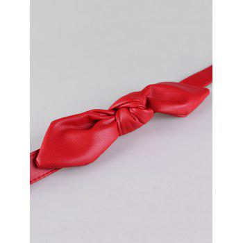 Stylish Bowknot Decorative Faux Leather Waist Belt - RED