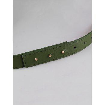 Stylish Bowknot Decorative Faux Leather Waist Belt - MEDIUM SEA GREEN