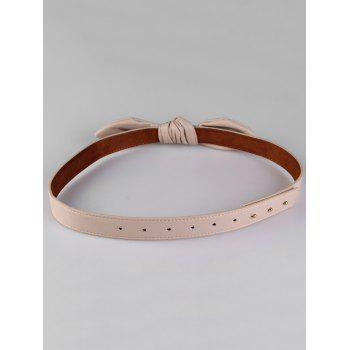 Stylish Bowknot Decorative Faux Leather Waist Belt - APRICOT