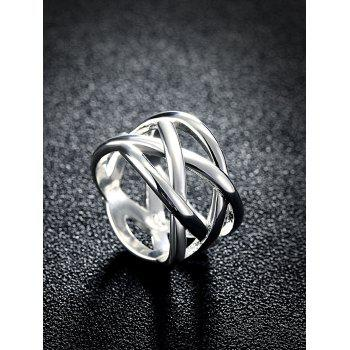 Simple Alloy Geometric Finger Ring - SILVER 10