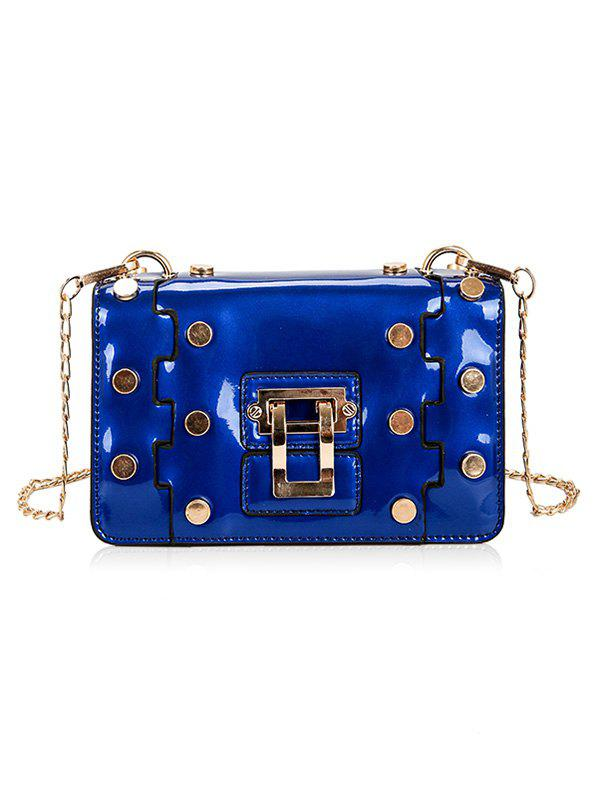 Retro Studs Vacation Crossbody Bag - BLUE ORCHID