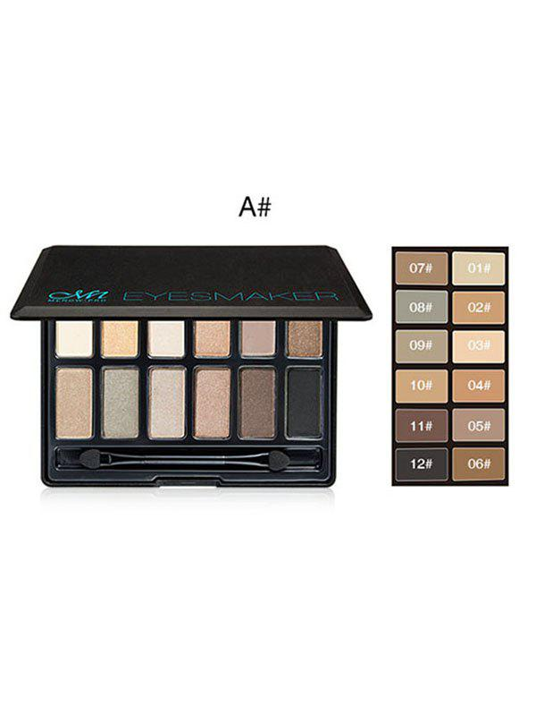 12 Colors Long Lasting High Pigment Pro Eyeshadow Palette - multicolor A