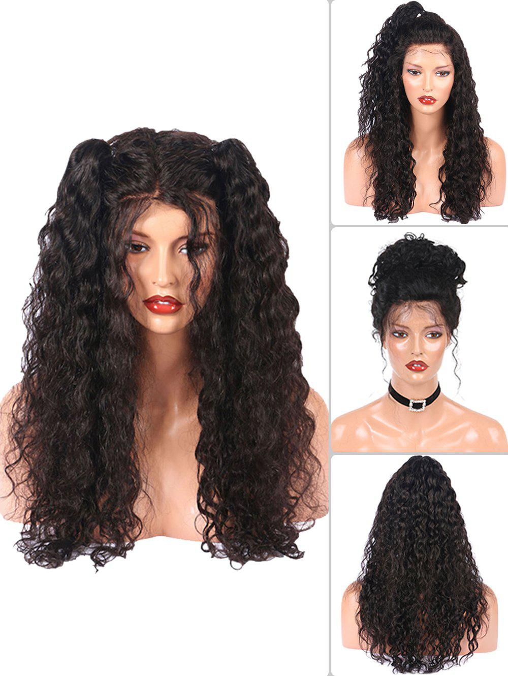 Long Free Part Water Wave Lace Front Synthetic Fiber Wig 2016 top selling synthetic wig natural looking free part black body wave synthetic lace front wig for african american