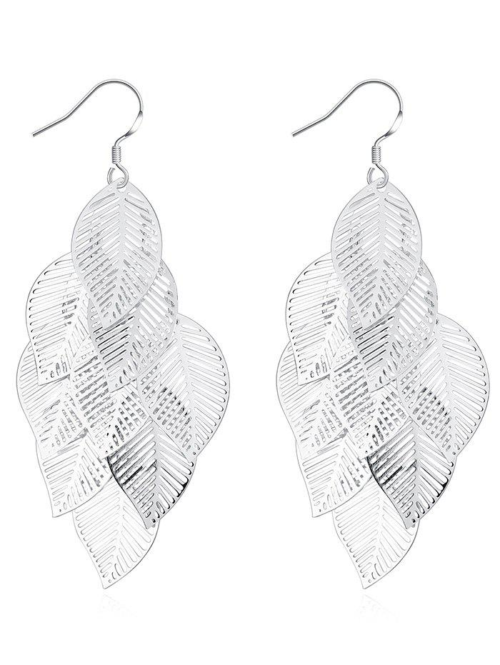 Metal Leaf Layered Drop Earrings quiet riot quiet riot metal health