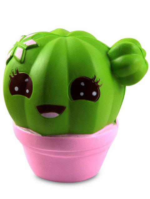 Cute Cactus Soft Slow Rebound Stimulated Doll Squishy Toy - GREEN