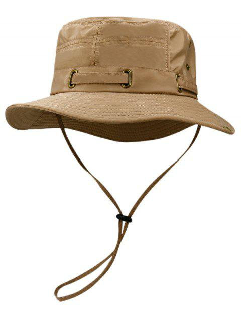 Soft Line Embroidery Breathable Bucket Hat - DARK GOLDENROD