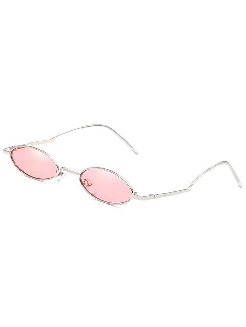 Unique Curved Legs Sun Shades Oval Sunglasses - PINK