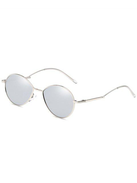 UV Protection Metal Full Frame Bent Legs Sunglasses - PLATINUM