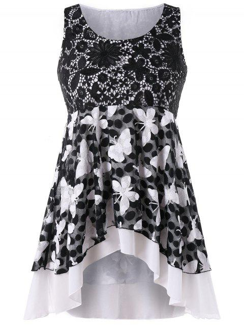 af26b86796a LIMITED OFFER  2019 Plus Size Empire Waist Butterfly Pattern Tank ...
