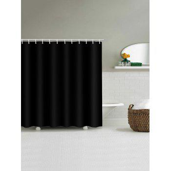 Solid Color Print Bath Waterproof Shower Curtain - BLACK W71 INCH * L79 INCH