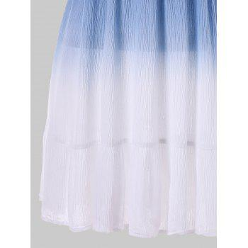 Dip Dye Open Back Dress - multicolor M