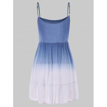 Dip Dye Open Back Dress - multicolor 2XL