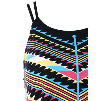 Two Straps Geometric Printed Tank Top - multicolor 2XL