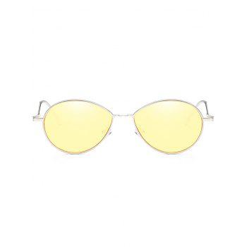 UV Protection Metal Full Frame Bent Legs Sunglasses - YELLOW
