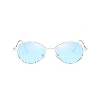 UV Protection Metal Full Frame Bent Legs Sunglasses - DAY SKY BLUE