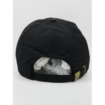 Outdoor SPORT Pattern Adjustbale Sunscreen Hat - BLACK