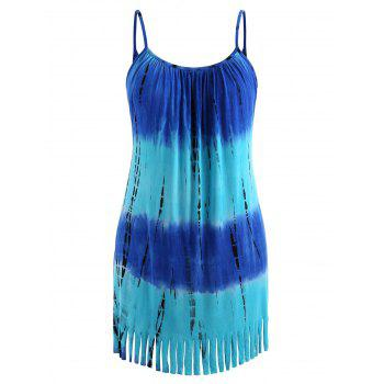 Plus Size Ombre Cami Tunic Dress - BLUE 1X