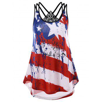 Strappy American Flag Tank Top