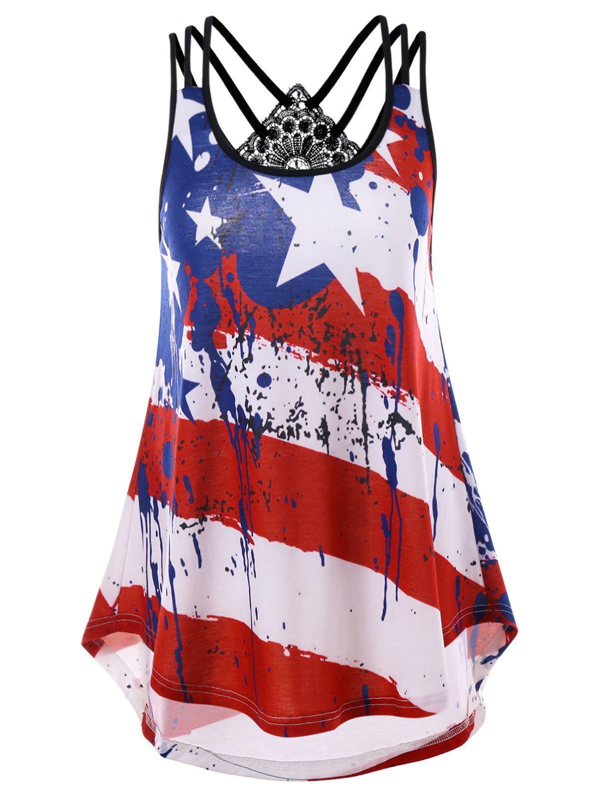 Strappy American Flag Tank Top strappy back american flag tank top