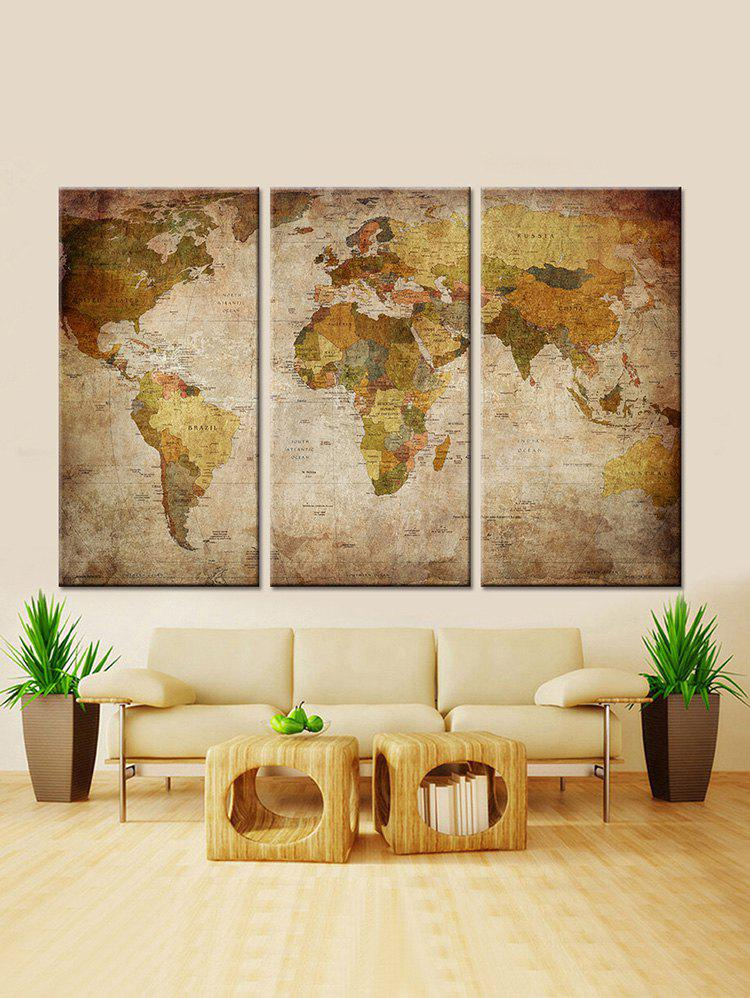 World Map Printed Unframed Wall Decor Canvas Paintings burning guitar pattern unframed wall art canvas paintings