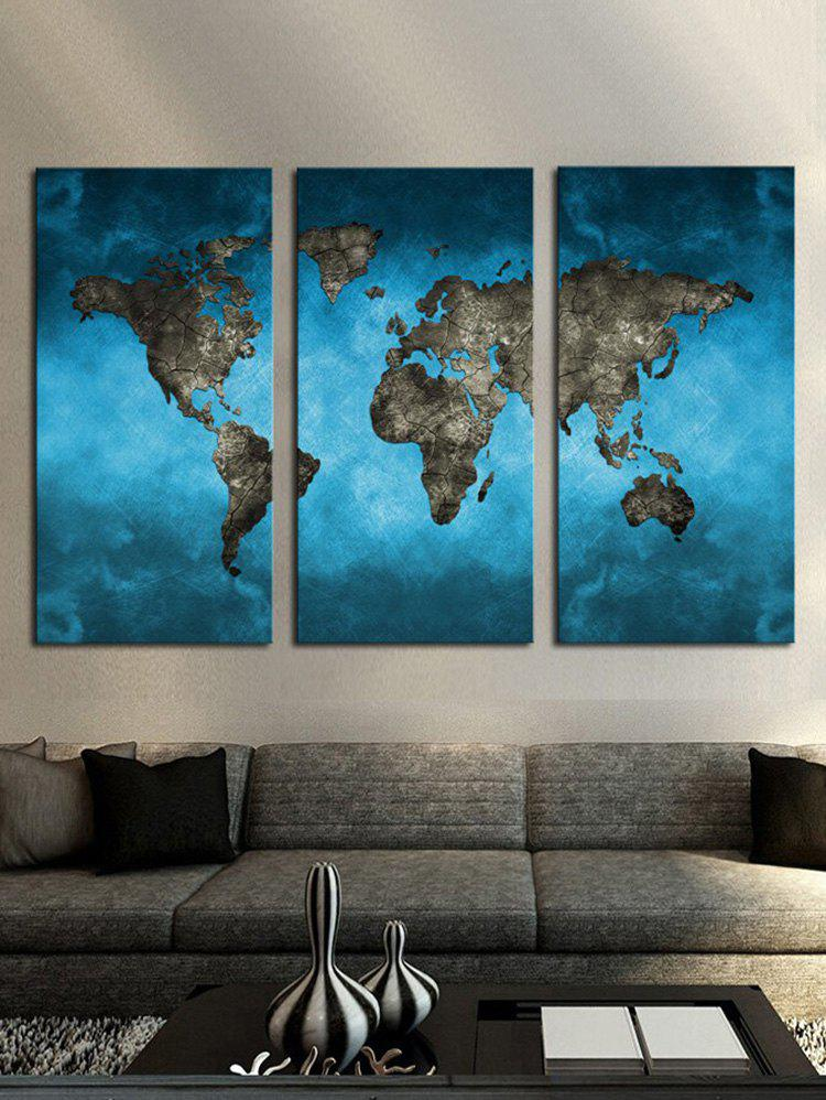 Abstract World Map Printed Wall Art Unframed Canvas Paintings world map frameless printed canvas wall art paintings 5pcs