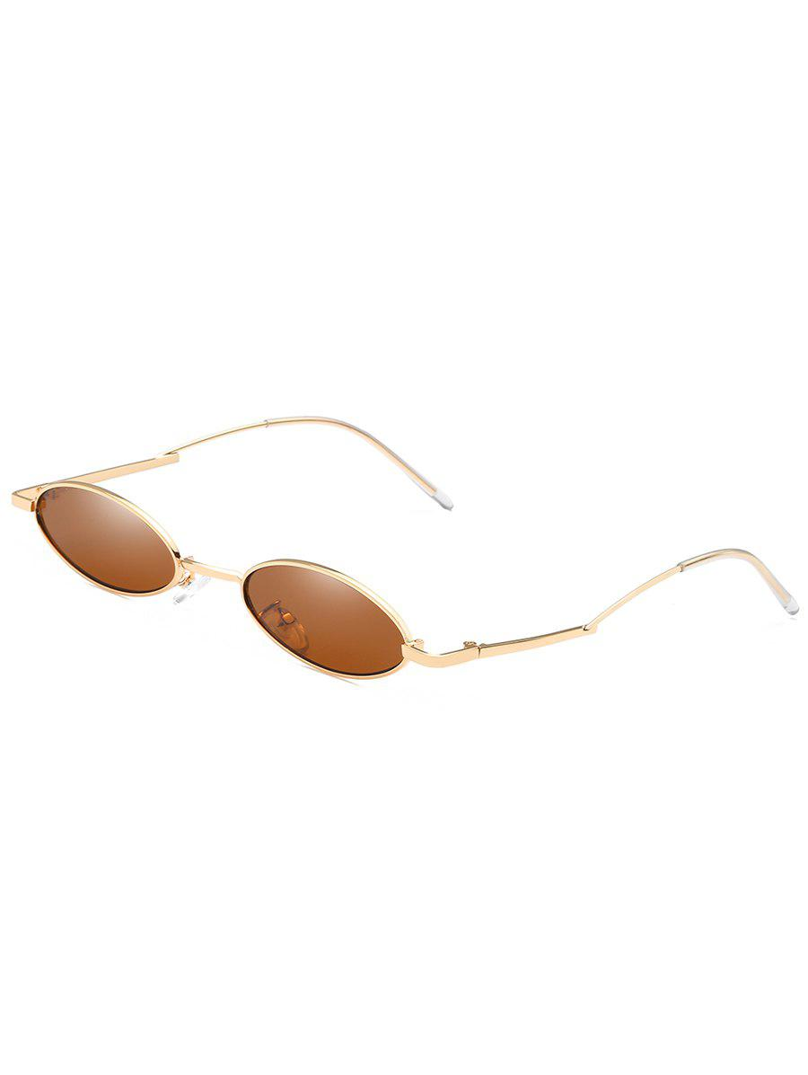Unique Curved Legs Sun Shades Oval Sunglasses - LIGHT BROWN