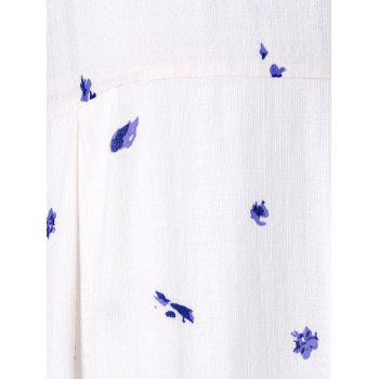Flower Printed Midi Sundress - WHITE M
