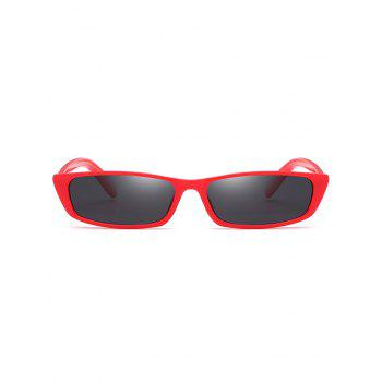 Outdoor Full Frame Flat Lens Sun Shades Sunglasses - RUBY RED