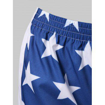 American Flag Workout Shorts - FIRE ENGINE RED XL
